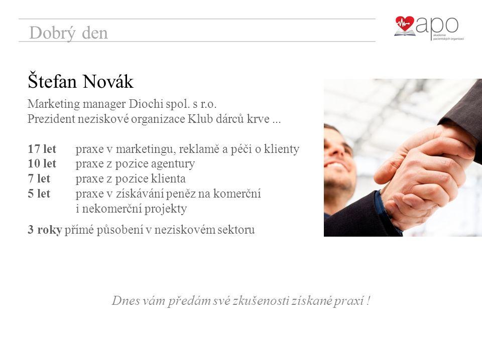 Dobrý den Štefan Novák Marketing manager Diochi spol.
