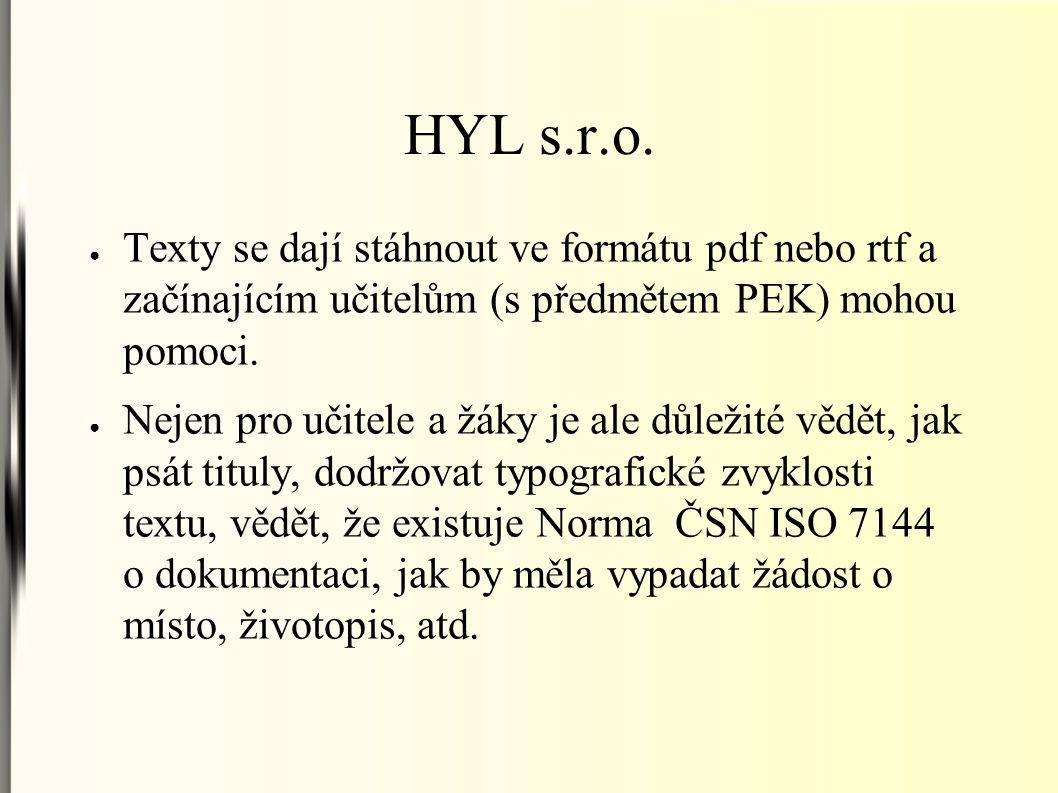 HYL s.r.o.