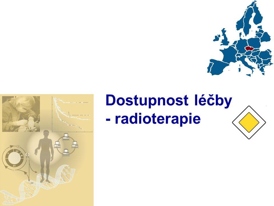 Dostupnost léčby - radioterapie