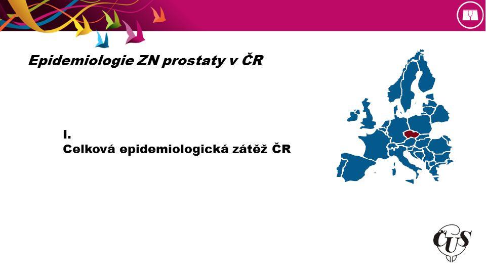 I. Celková epidemiologická zátěž ČR Epidemiologie ZN prostaty v ČR