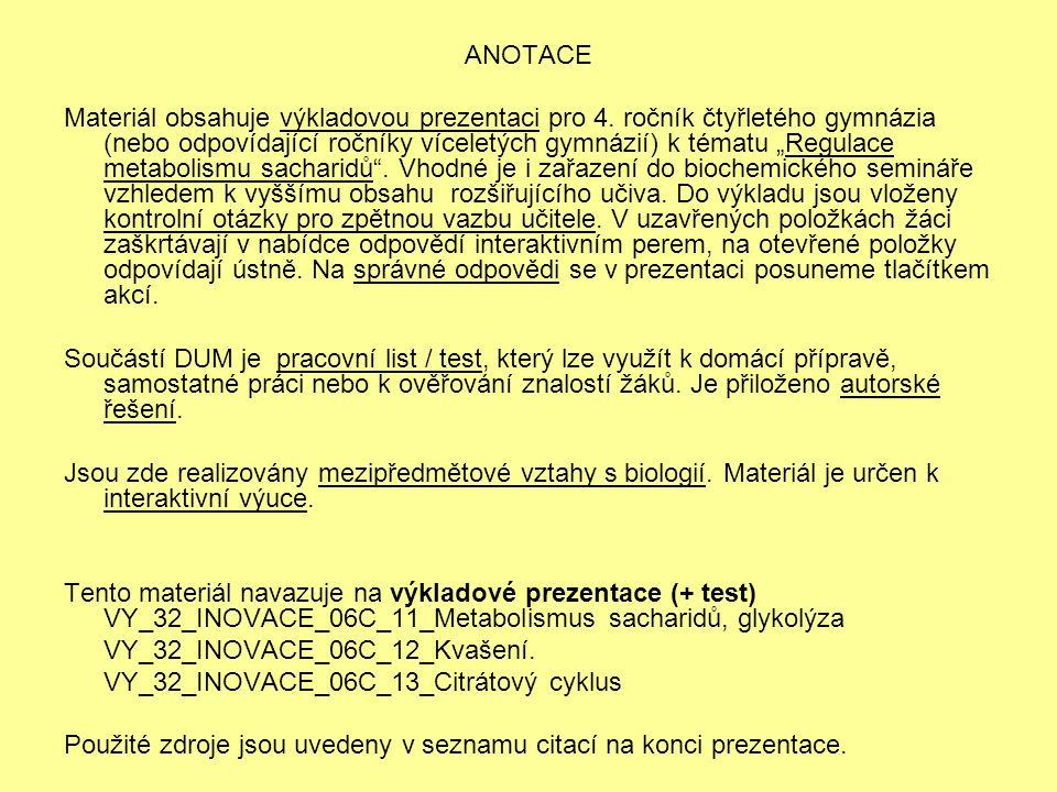 """ANOTACE Materiál obsahuje výkladovou prezentaci pro 4. ročník čtyřletého gymnázia (nebo odpovídající ročníky víceletých gymnázií) k tématu """"Regulace m"""