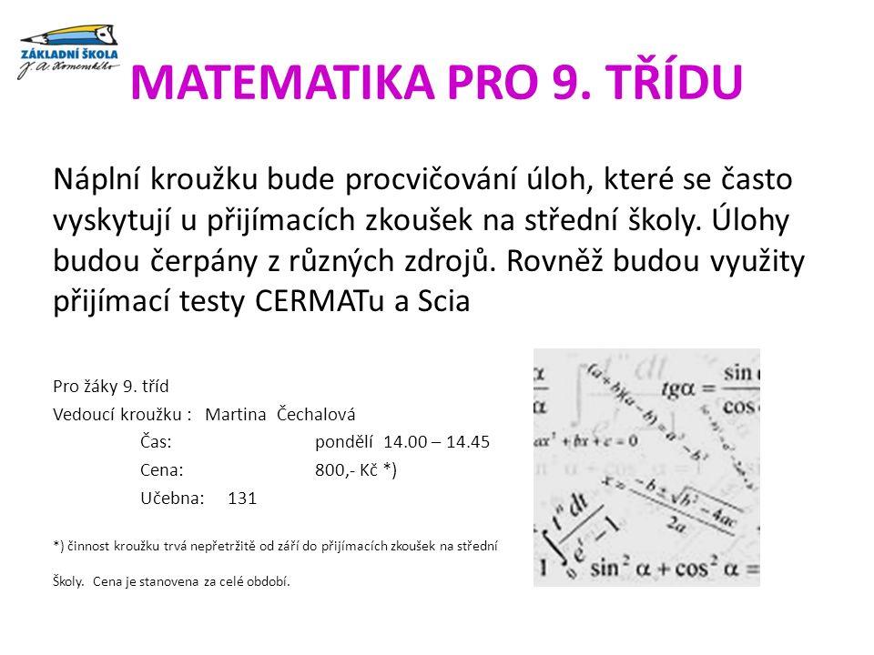 MATEMATIKA PRO 9.