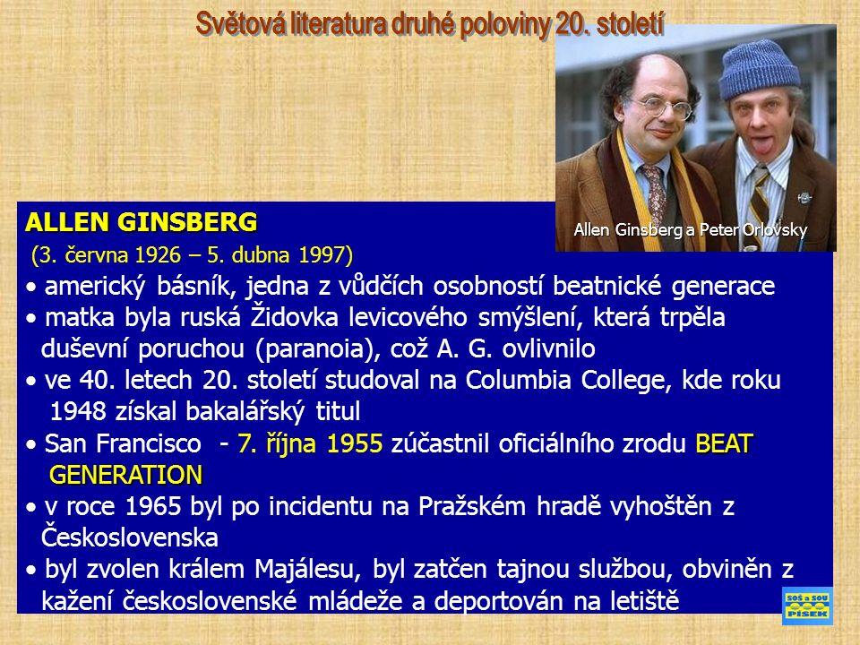 ALLEN GINSBERG (3. června 1926 – 5.