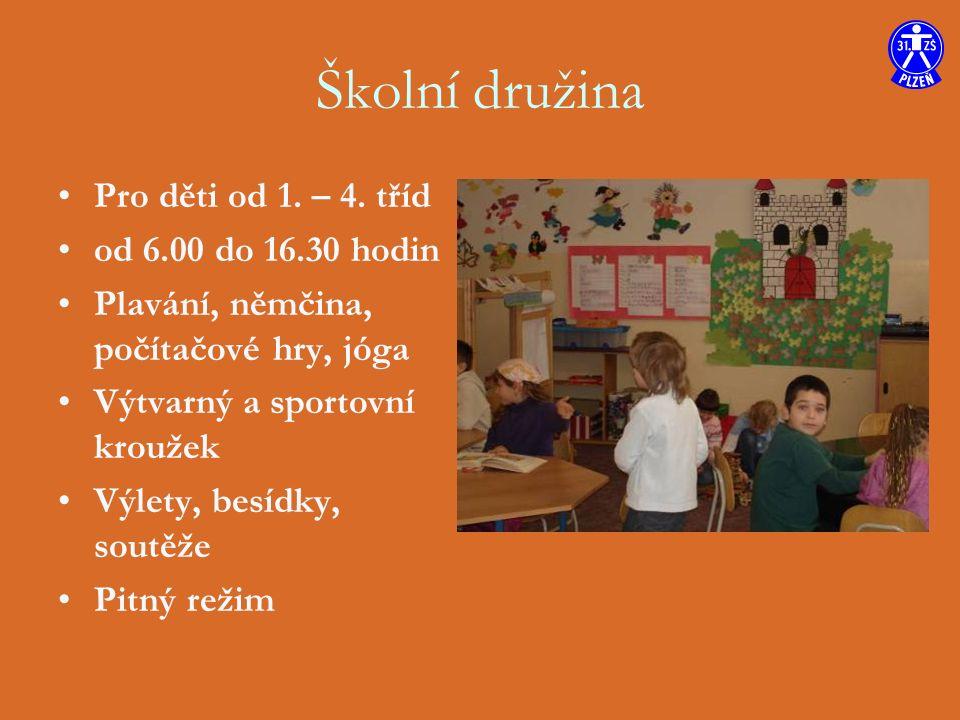 Školní družina Pro děti od 1. – 4.