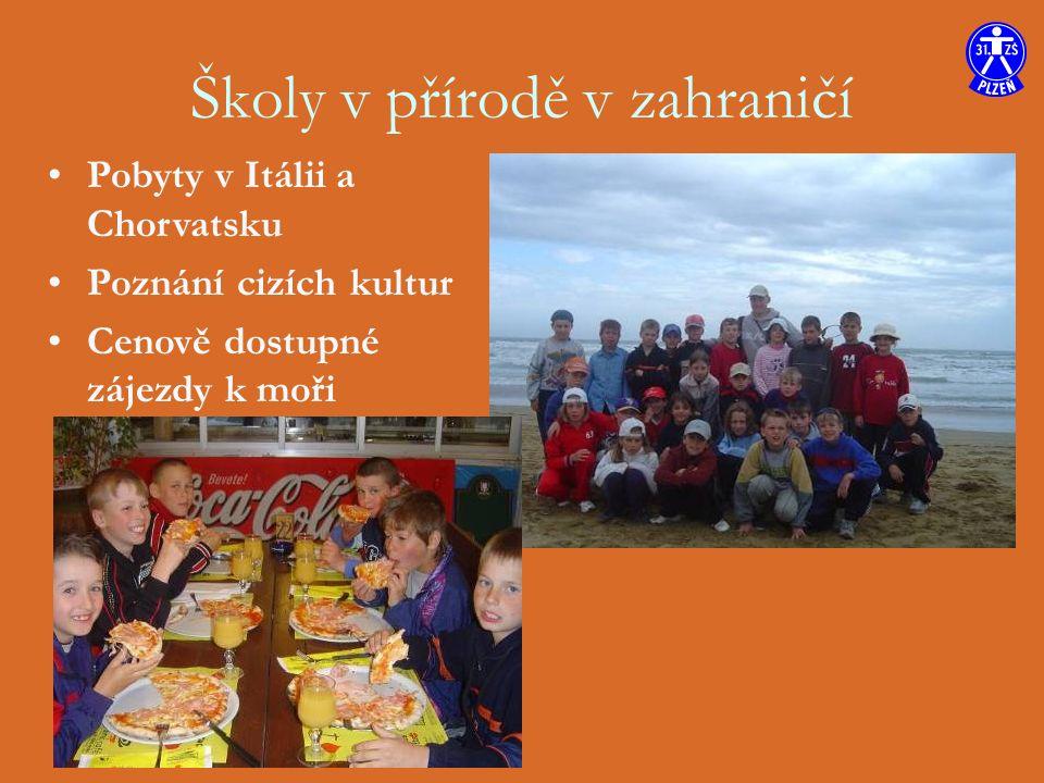 Školy v přírodě v zahraničí Pobyty v Itálii a Chorvatsku Poznání cizích kultur Cenově dostupné zájezdy k moři