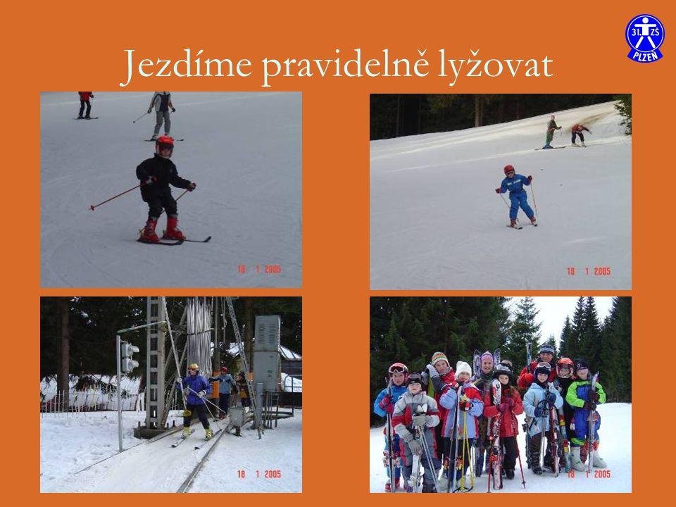 Jezdíme pravidelně lyžovat