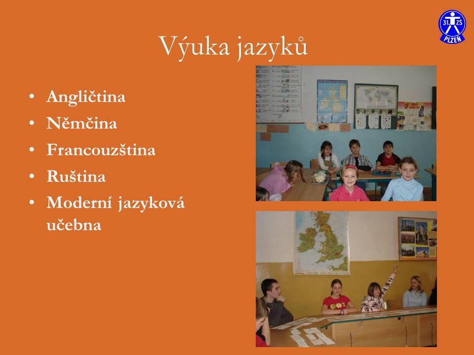 Angličtina Němčina Francouzština Ruština Moderní jazyková učebna Výuka jazyků