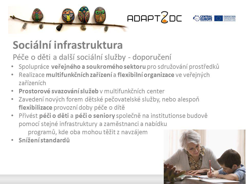 Sociální infrastruktura Péče o děti a další sociální služby - doporučení Spolupráce veřejného a soukromého sektoru pro sdružování prostředků Realizace