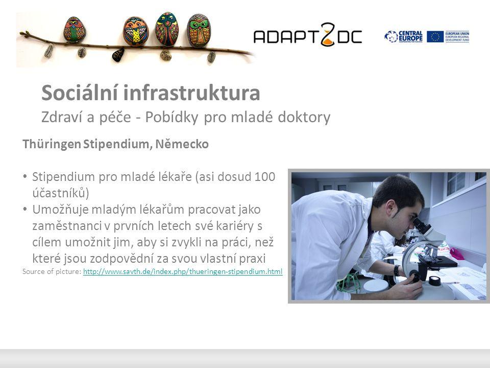Sociální infrastruktura Zdraví a péče - Zavedení ICT technologií do domácností Telemedicíny služby pro seniory jako nástroj pro optimalizaci nákladů na zdravotní péči v Malopolsku, Polsko Vysoce kvalitní zdravotnické služby se sníženými náklady pro skupinu starších příjemců Poskytování telemedicíny služba (teleECG) ke sledování zdravotního stavu příjemců Dosažení pacientů, jimž hrozí vyloučení, zejména v oblasti, které se vylidňují