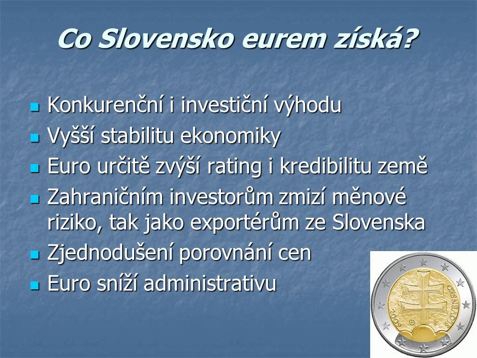 Co Slovensko eurem získá.