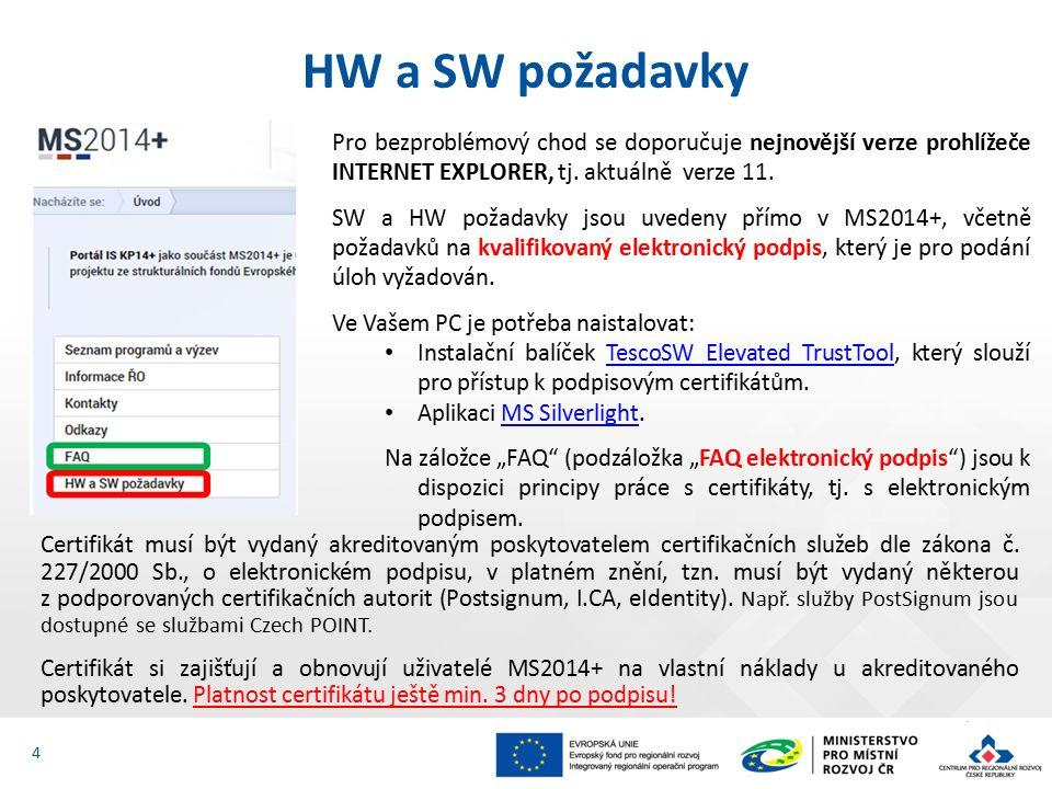 Certifikát musí být vydaný akreditovaným poskytovatelem certifikačních služeb dle zákona č.