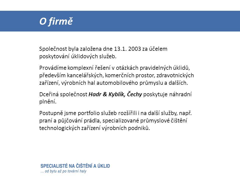 Našimi největšími zákazníky jsou: Reference  ArcelorMittal Ostrava – úklid celé společnosti od roku 2005  OZO Ostrava  Statutární město Ostrava  Městská policie Ostrava  Unex Uničov  Primus CE s.r.o.