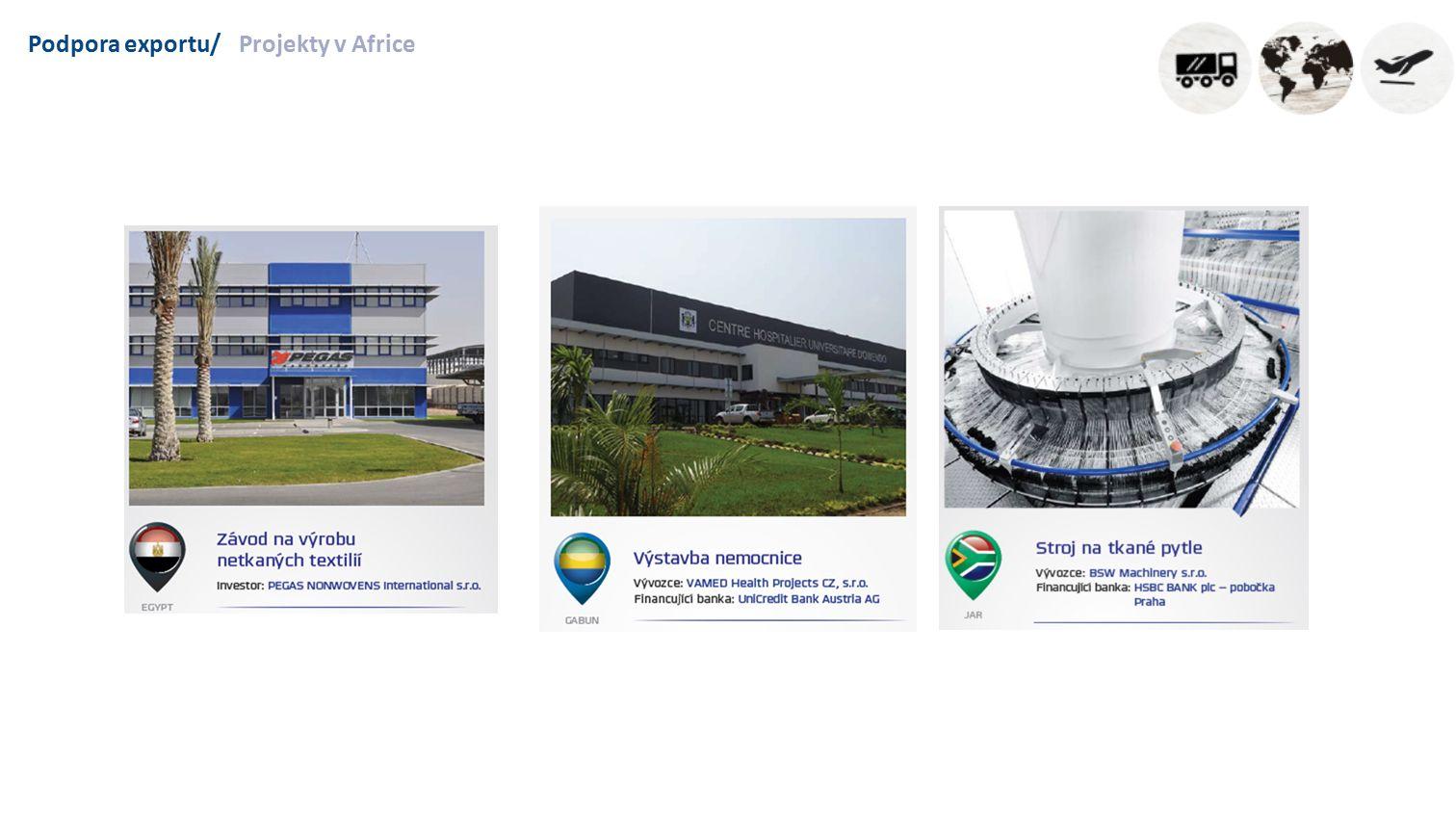 Podpora exportu/Projekty v Africe