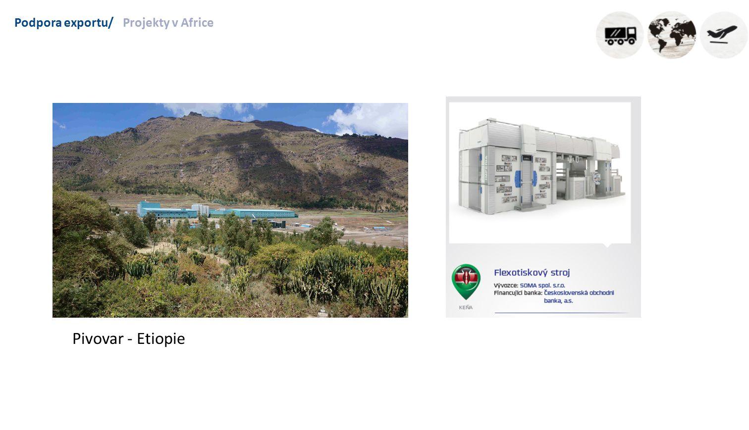 Podpora exportu/Projekty v Africe Pivovar - Etiopie