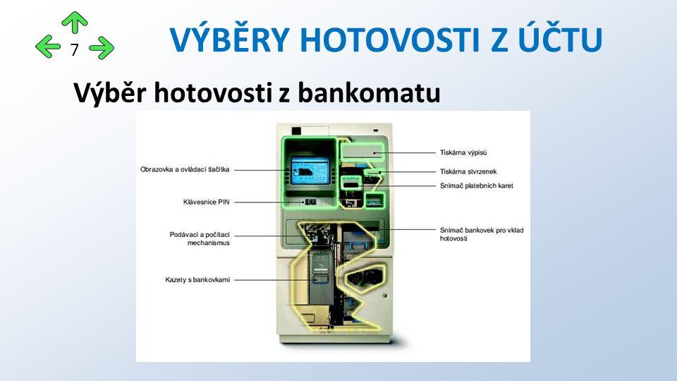 Výběr hotovosti z bankomatu VÝBĚRY HOTOVOSTI Z ÚČTU 7