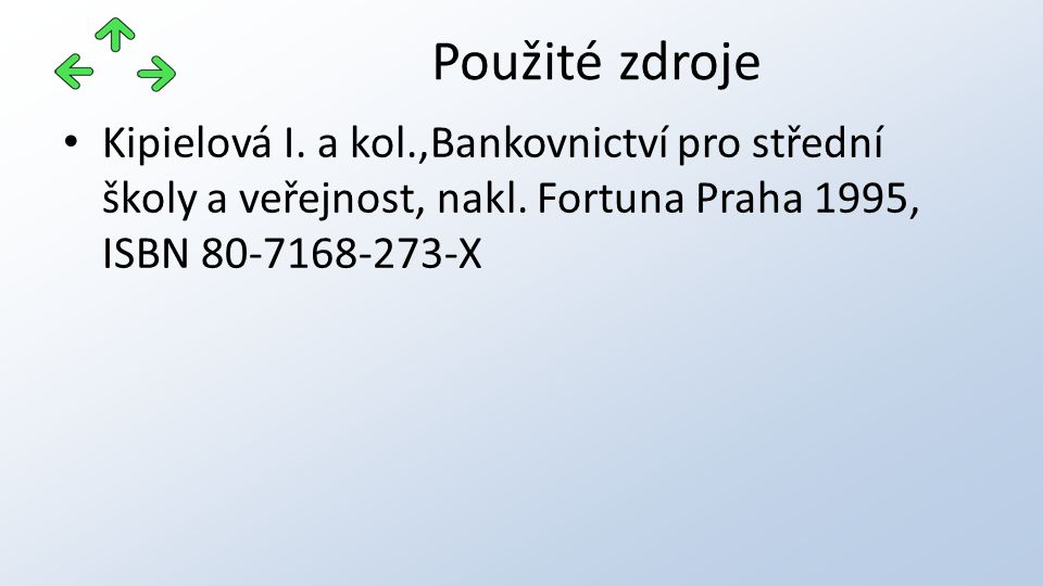 Kipielová I. a kol.,Bankovnictví pro střední školy a veřejnost, nakl.