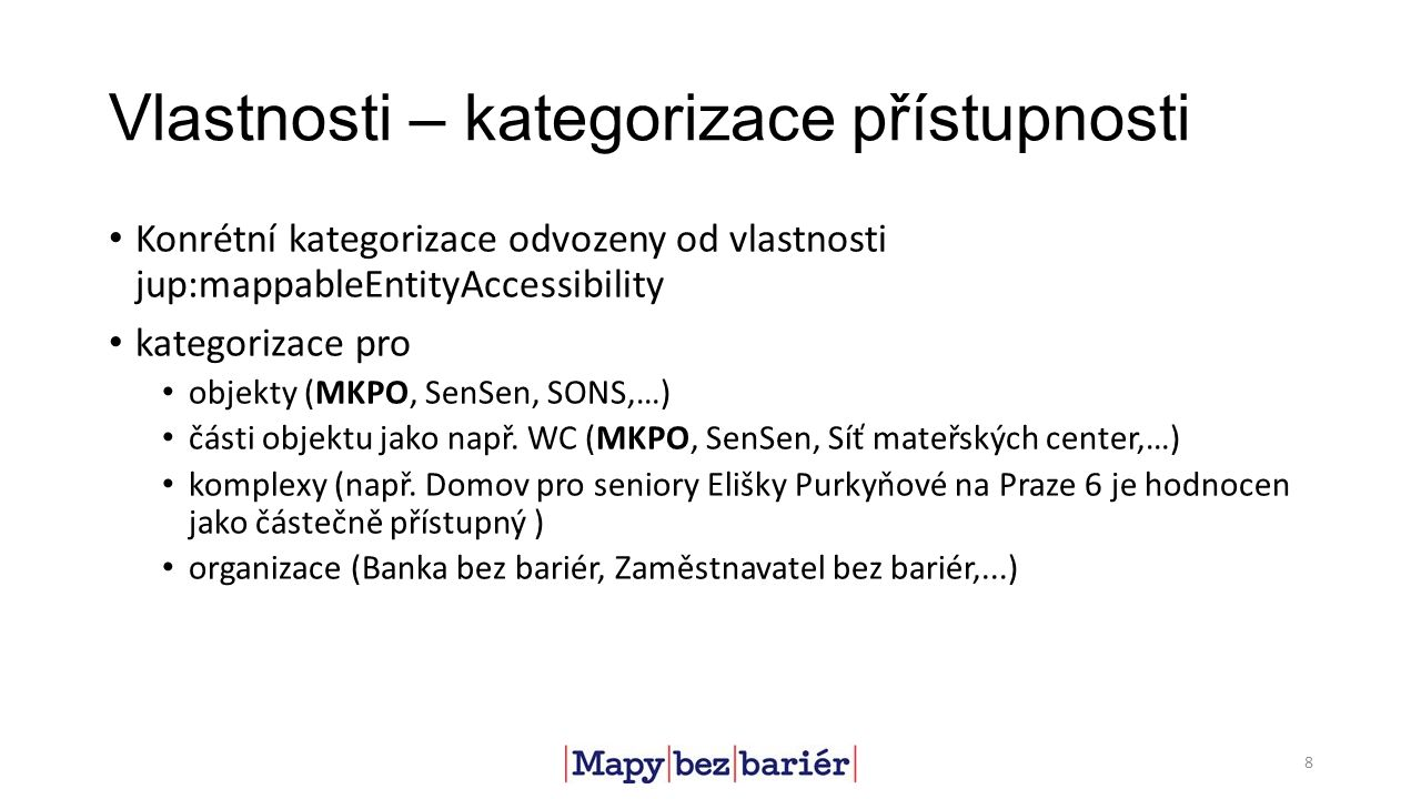 Vlastnosti – vztahy mezi entitami jup:hasPart, jup:partOf dcterms:hasPart: a related resource that is included either physically or logically in the described resource 9