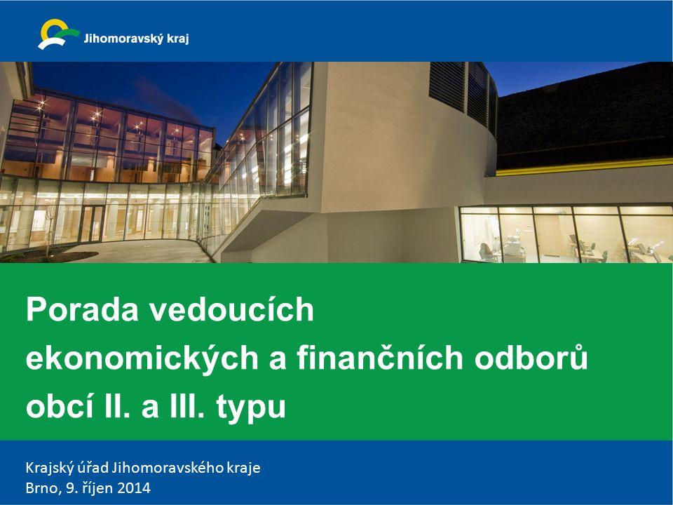 Krajský úřad Jihomoravského kraje Brno, 9.říjen 2014 Program 1.Zahájení Ing.