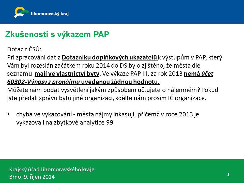 Krajský úřad Jihomoravského kraje Brno, 9. říjen 2014 DKCS vládní části - § 5 odst. 2 66