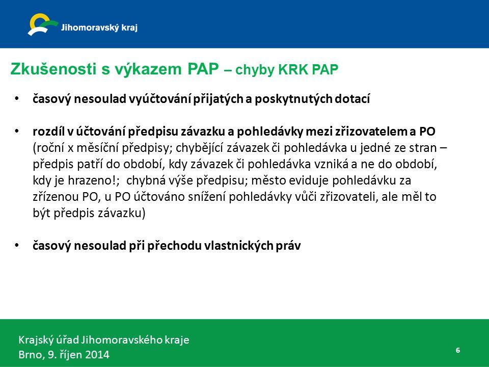 Krajský úřad Jihomoravského kraje Brno, 9.říjen 2014 DKCS kraj - § 5 odst.