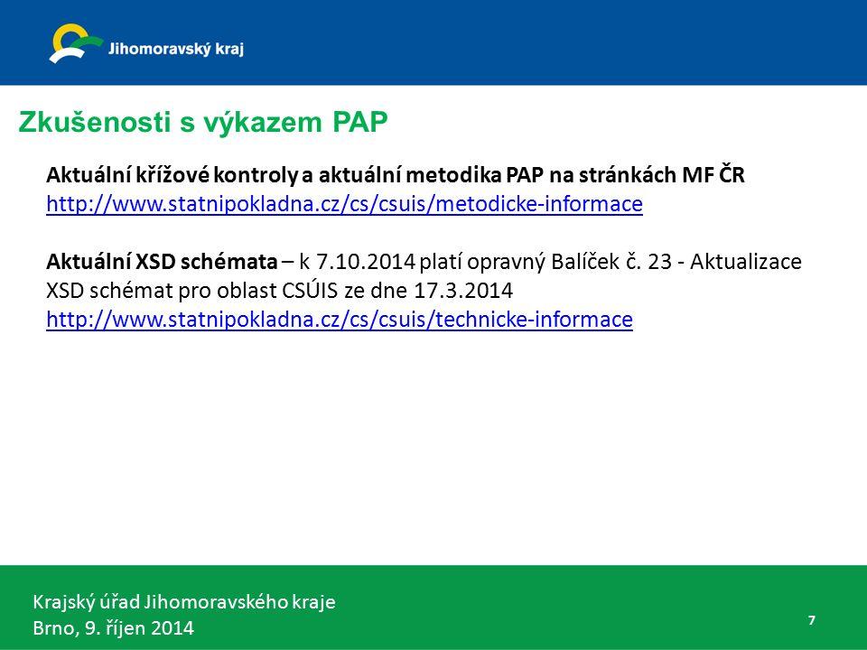 Krajský úřad Jihomoravského kraje Brno, 9. říjen 2014 DKCS kraj - § 5 odst. 3 68