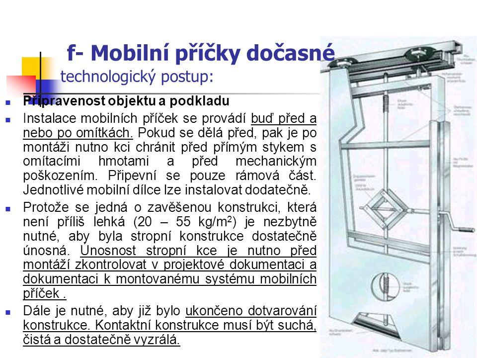 f- Mobilní příčky dočasné Kotevní šroub Vymezovací ocelové tyče s metrickým závitem Zvuková izolace Obložení Vodící kolejnice popis vrchního pevného rámu :