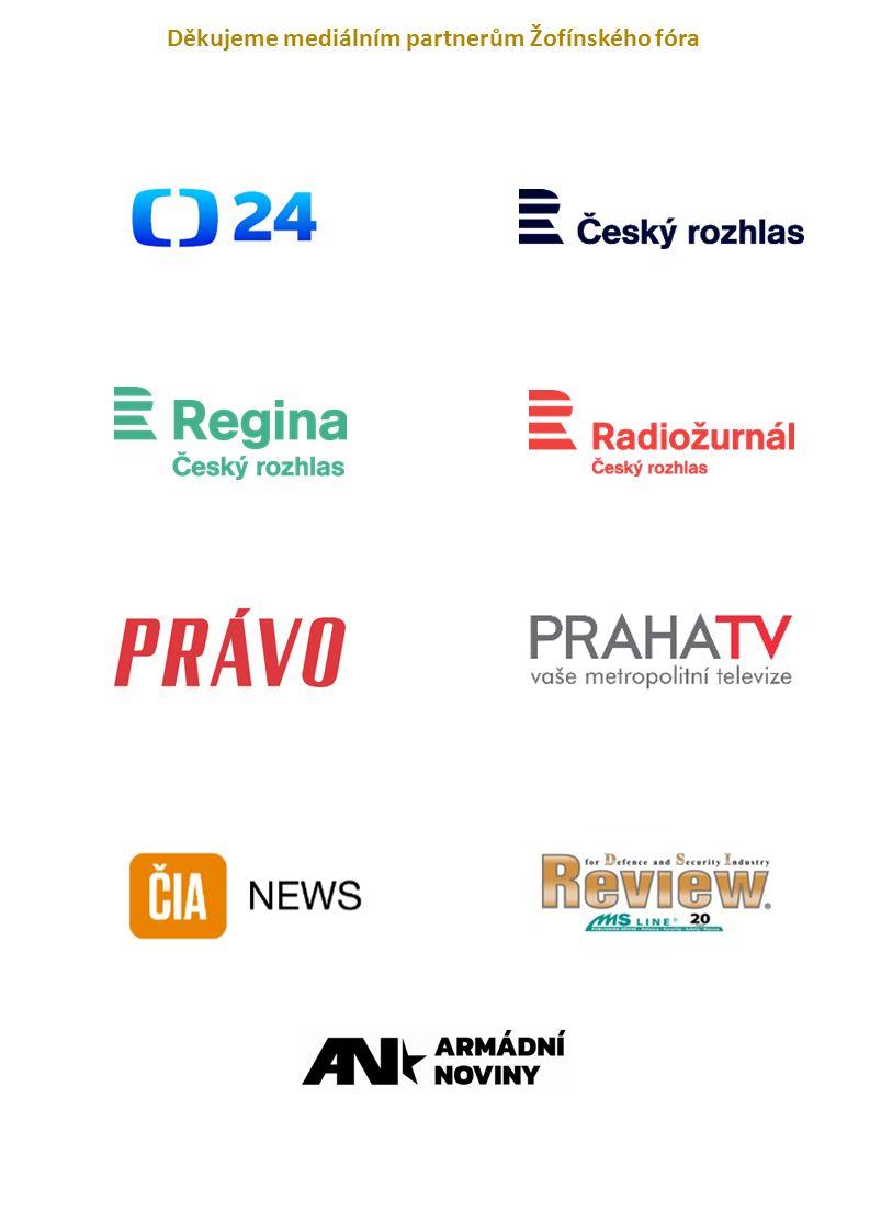 Děkujeme mediálním partnerům Žofínského fóra