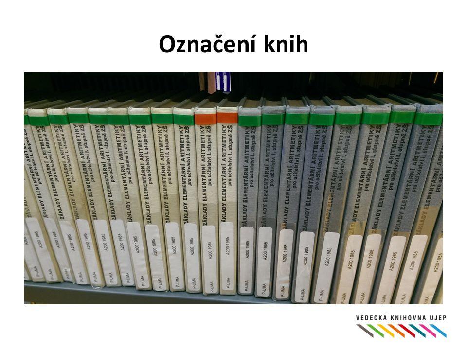 Označení knih