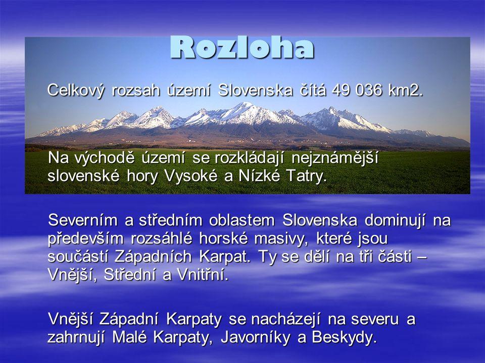 Rozloha Celkový rozsah území Slovenska čítá 49 036 km2.