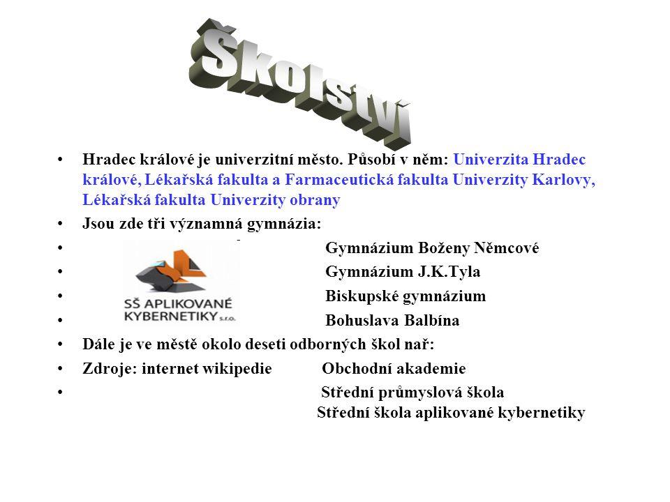 Hradec králové je univerzitní město. Působí v něm: Univerzita Hradec králové, Lékařská fakulta a Farmaceutická fakulta Univerzity Karlovy, Lékařská fa