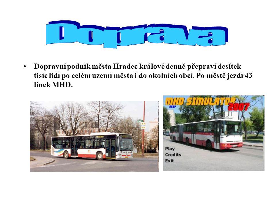 Dopravní podnik města Hradec králové denně přepraví desítek tisíc lidí po celém uzemí města i do okolních obcí. Po městě jezdí 43 linek MHD.