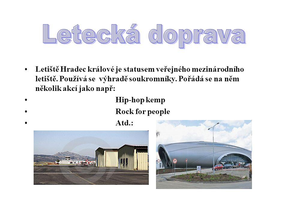 Letiště Hradec králové je statusem veřejného mezinárodního letiště. Používá se výhradě soukromníky. Pořádá se na něm několik akcí jako např: Hip-hop k