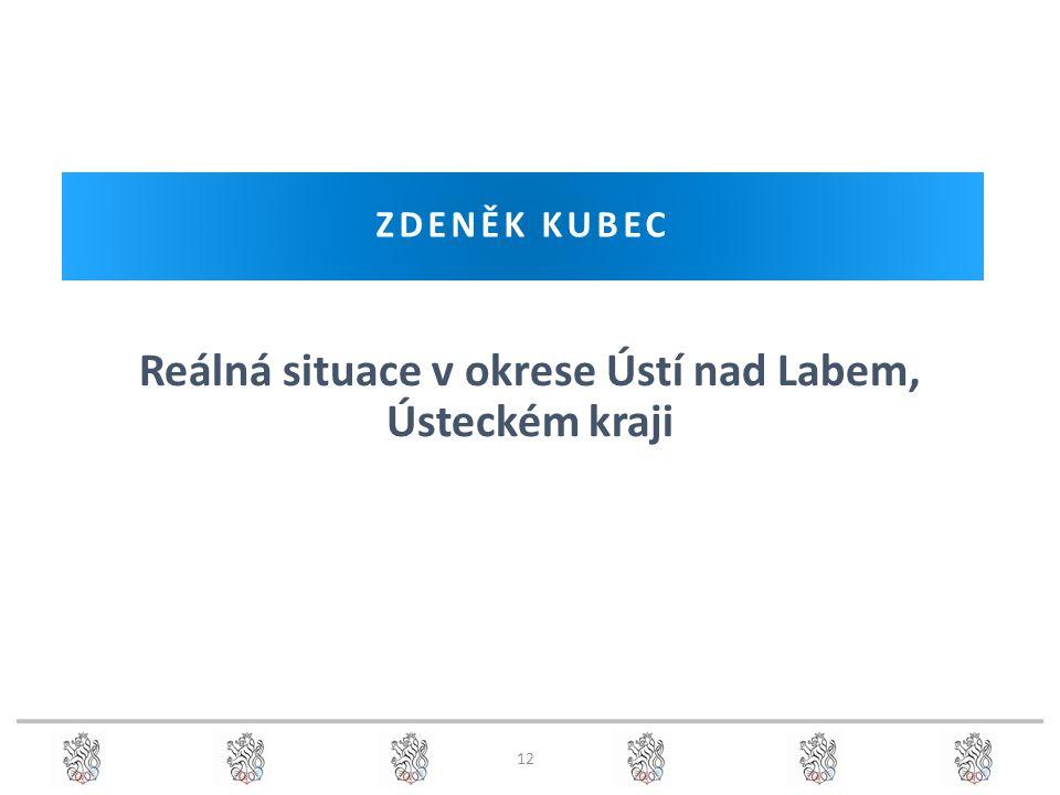 ZDENĚK KUBEC Reálná situace v okrese Ústí nad Labem, Ústeckém kraji 12