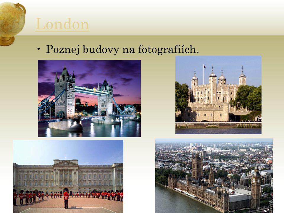 London Poznej budovy na fotografiích.