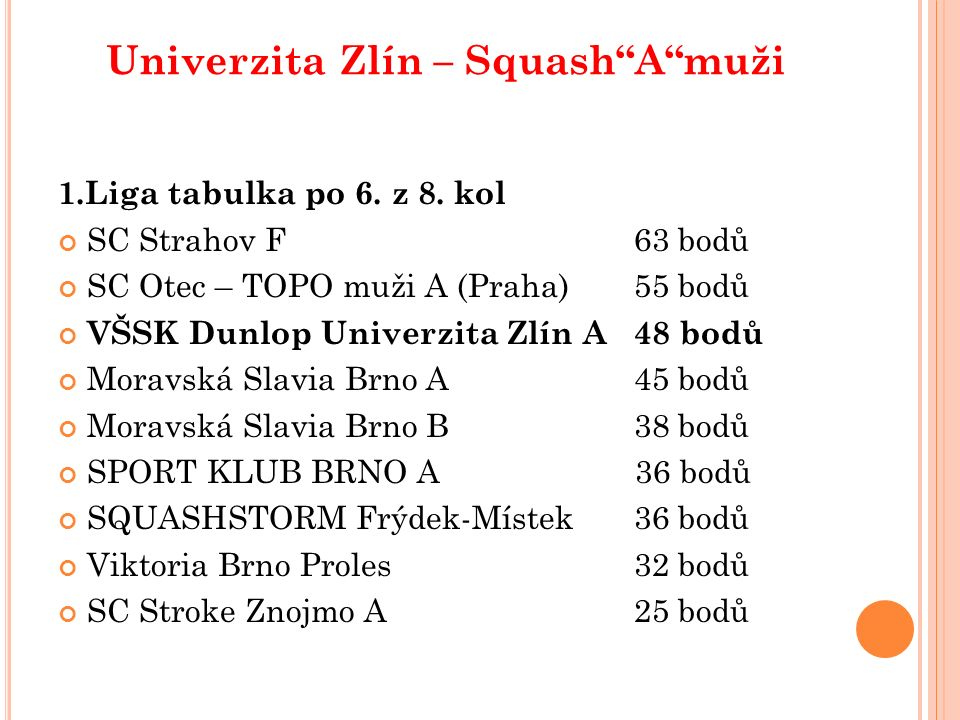 Univerzitní družstvo tenisu 2013/2014 postup z KP 4 do KP 2