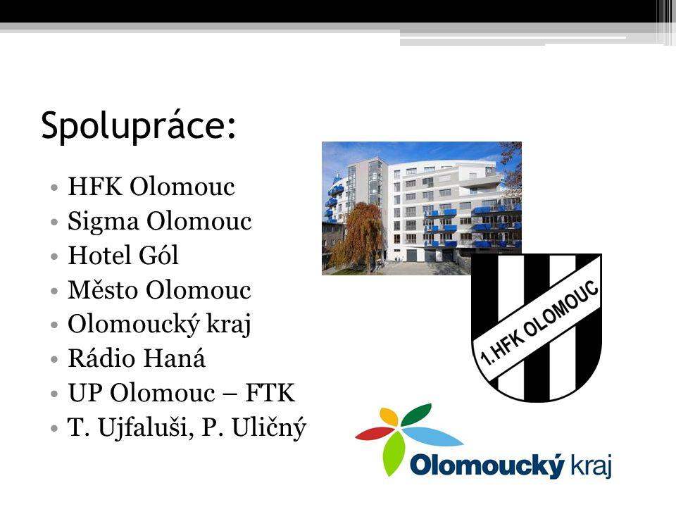 Spolupráce: HFK Olomouc Sigma Olomouc Hotel Gól Město Olomouc Olomoucký kraj Rádio Haná UP Olomouc – FTK T.