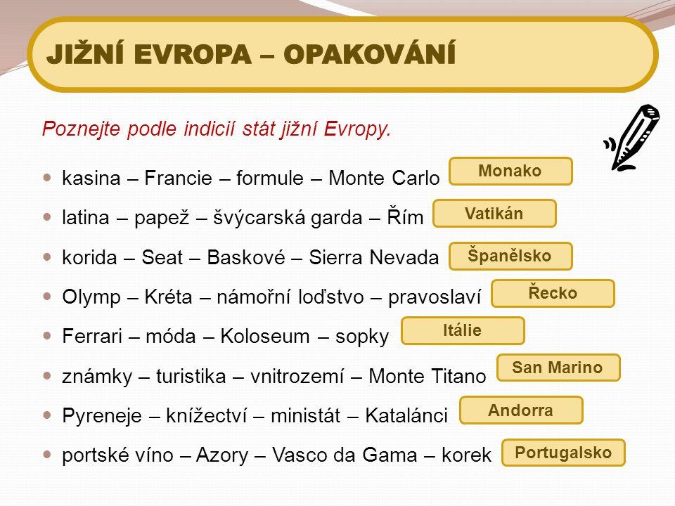 Poznejte podle indicií stát jižní Evropy.