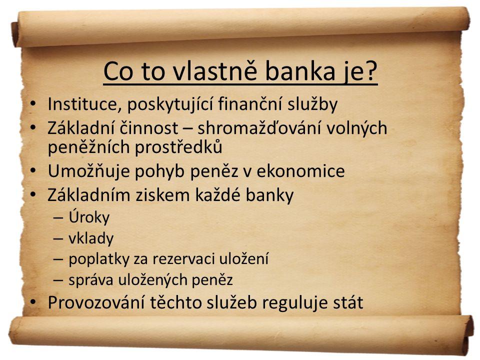 Co to vlastně banka je.