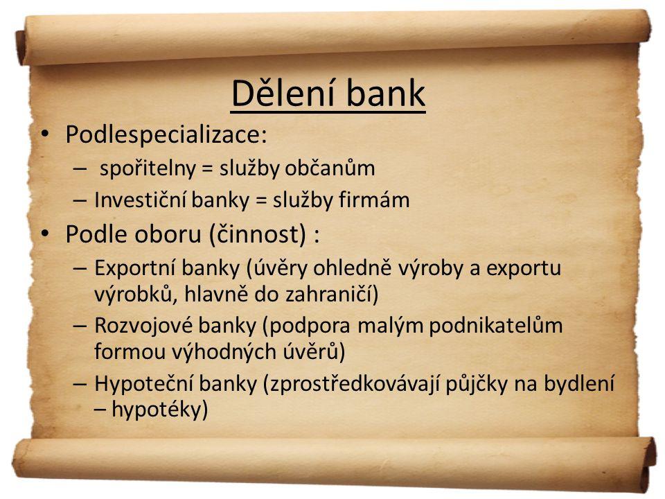 Děkuji za pozornost Autor : Tereza Buřivalová Zdroje : - Banky.