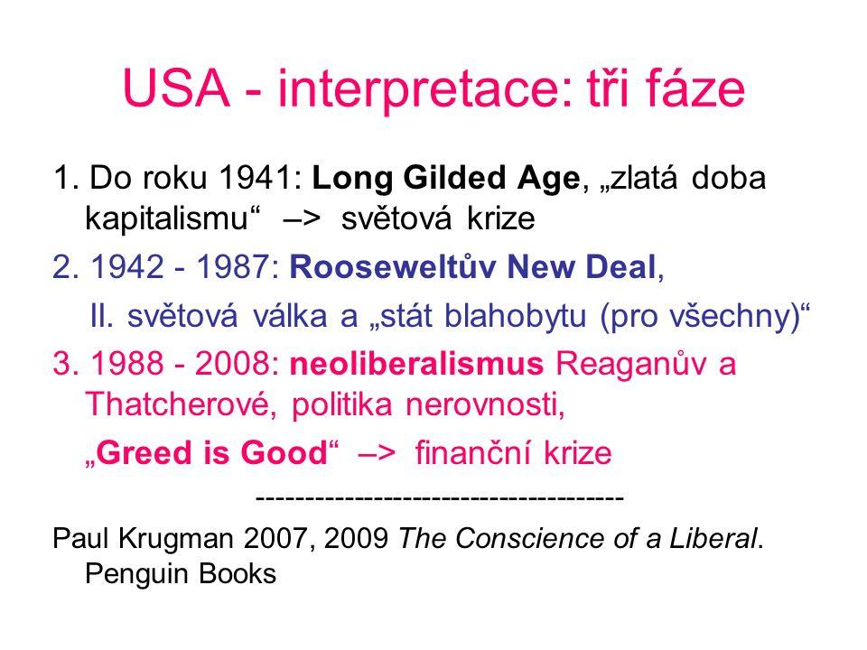 USA - interpretace: tři fáze 1.