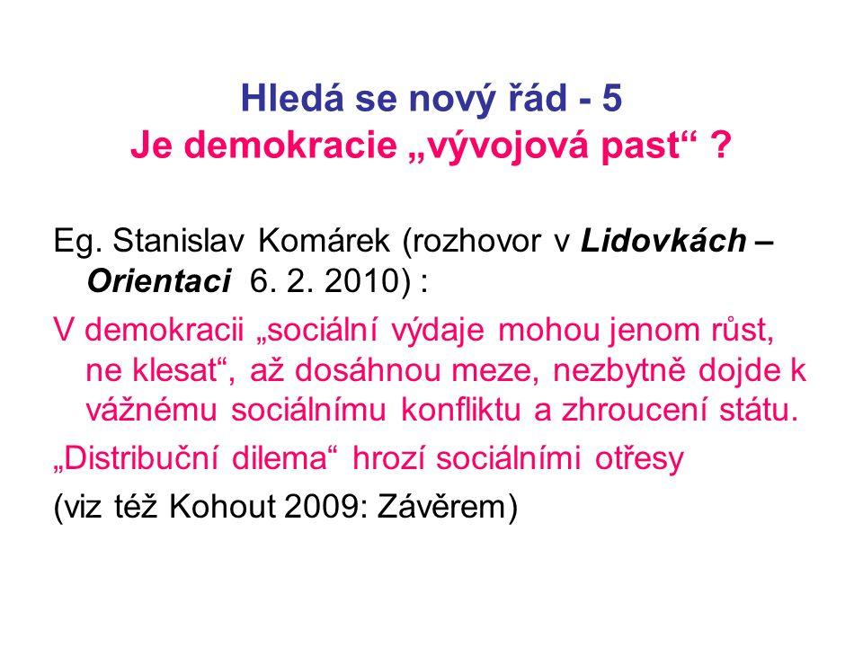 """Hledá se nový řád - 5 Je demokracie """"vývojová past ."""