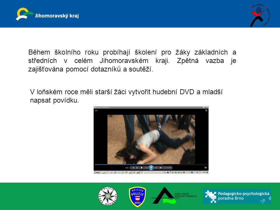 Během školního roku probíhají školení pro žáky základních a středních v celém Jihomoravském kraji.
