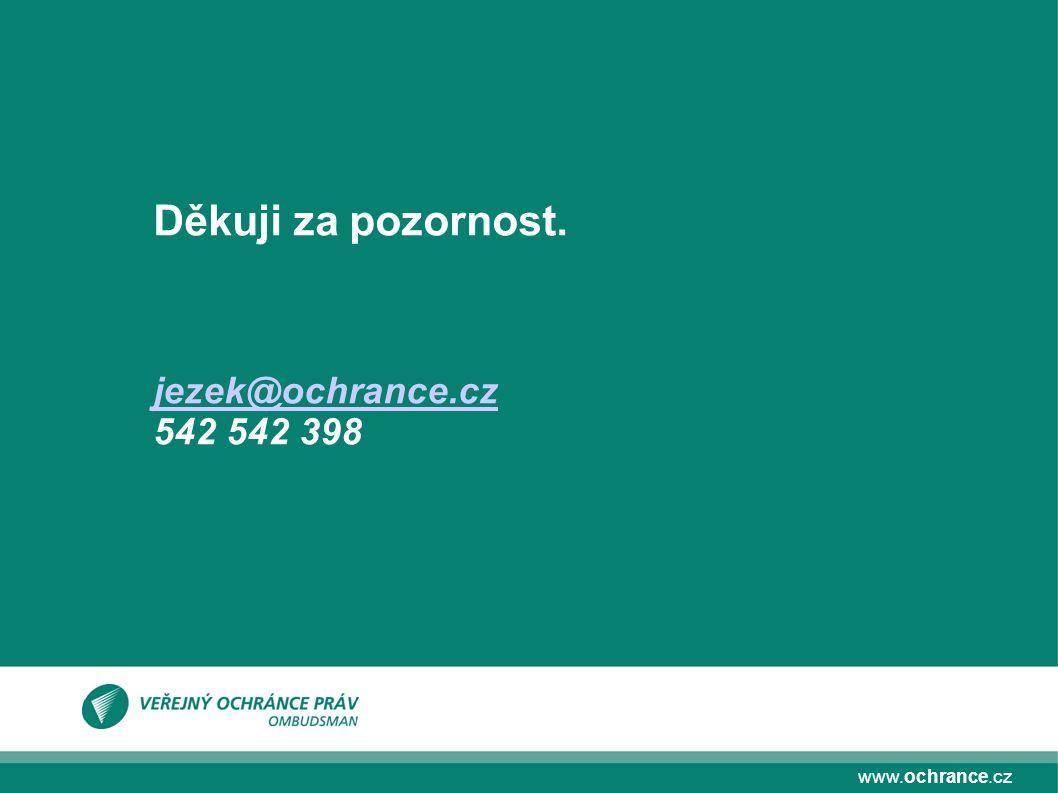 www.ochrance.cz Děkuji za pozornost. jezek@ochrance.cz 542 542 398