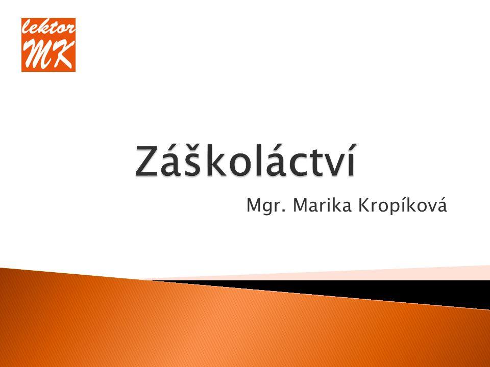 Mgr. Marika Kropíková