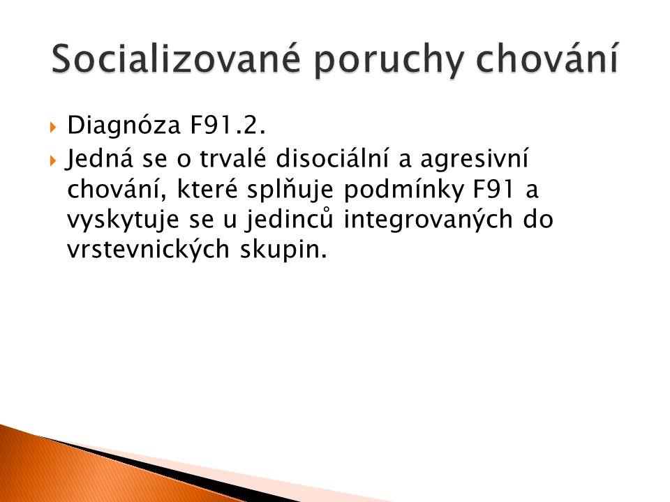  Diagnóza F91.2.