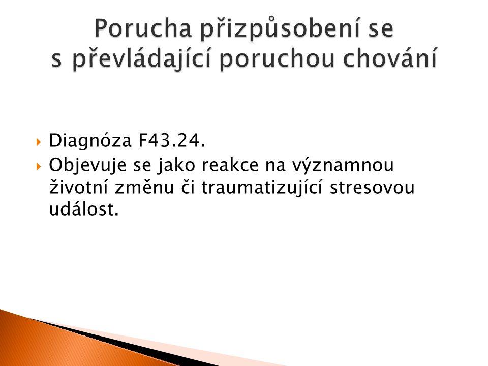  Diagnóza F43.24.