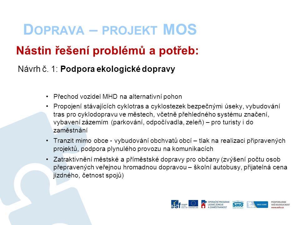 D OPRAVA – PROJEKT MOS Nástin řešení problémů a potřeb: Návrh č.
