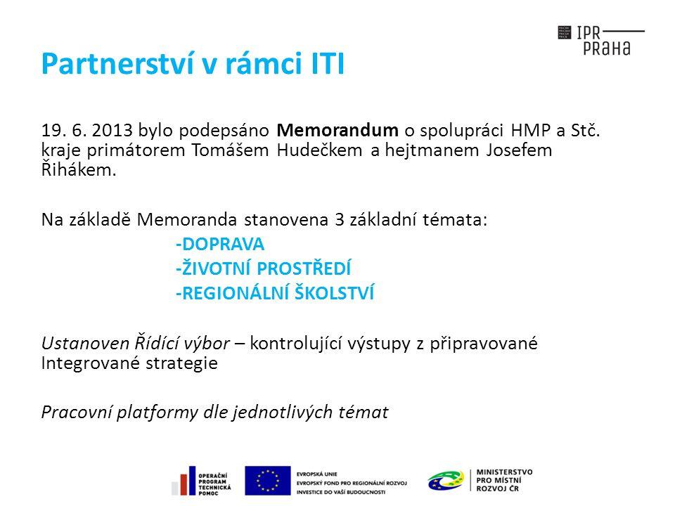 Partnerství v rámci ITI 19. 6. 2013 bylo podepsáno Memorandum o spolupráci HMP a Stč.