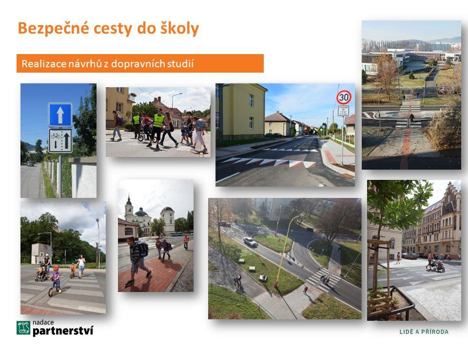 Bezpečné cesty do školy Realizace návrhů z dopravních studií