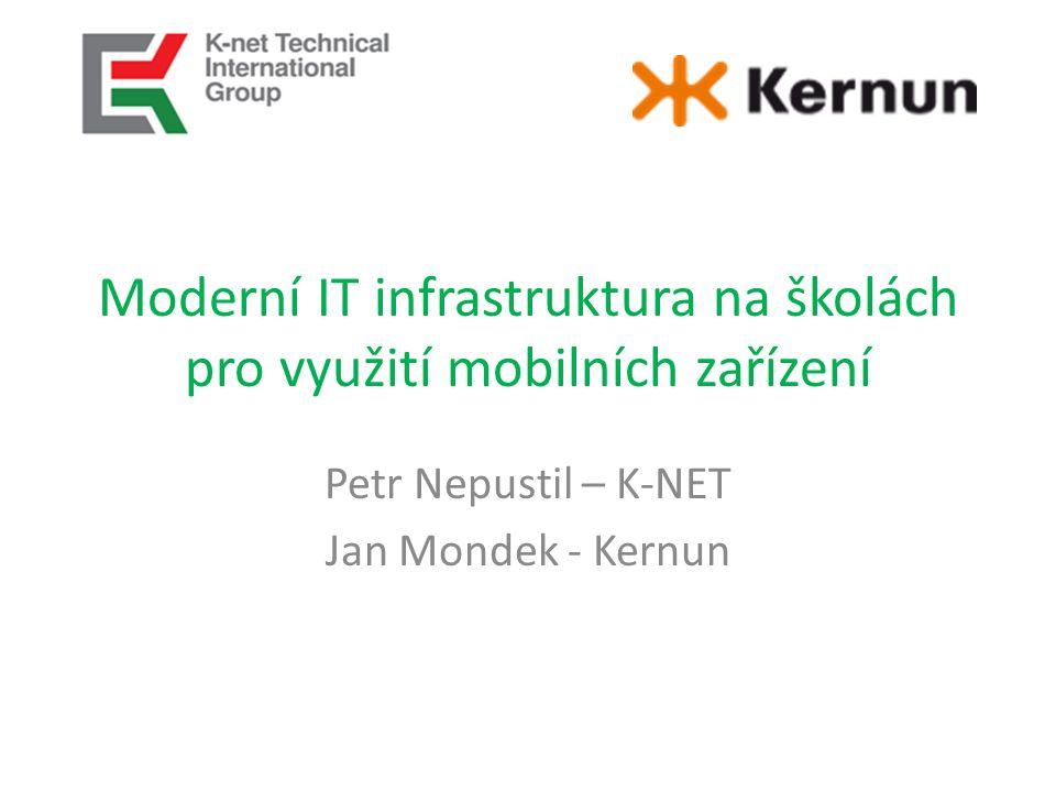 Moderní IT infrastruktura na školách pro využití mobilních zařízení Petr Nepustil – K-NET Jan Mondek - Kernun